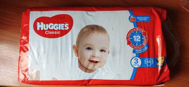 Памперсы Huggies Classic размер 3, 4-9 кг