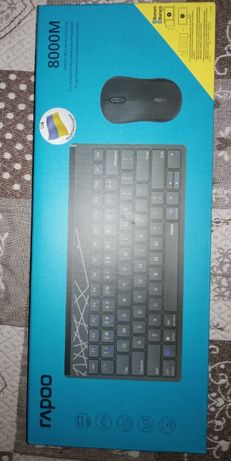Беспроводная клавиатура и мышка радио и bluetooth rapoo 8000m