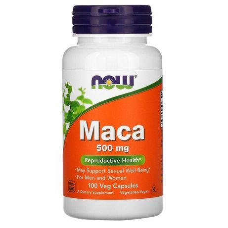 Now Foods Maca мака. 500 мг, 100 растительных капсул