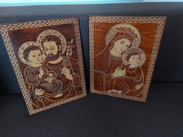 Дерев'яні різьблені ікони/образи