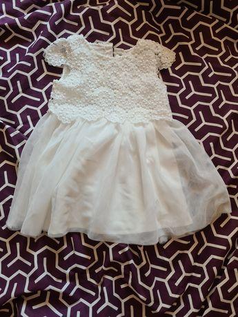 Нарядное белое платье, на крестины