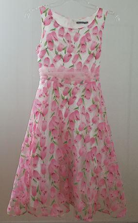Urocza sukienka w kwiatki