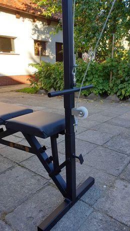Ławeczka do ćwiczeń ławka treningowa plus wyciąg, górny i dolny