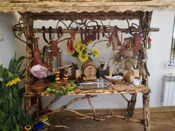 Stół wiejski impreza wesele