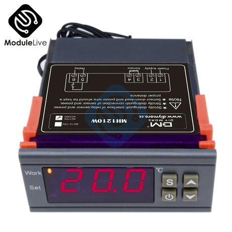 Термостат -50 ~ +110 °C 220В терморегулятор MH1210W. Термореле 2кВт