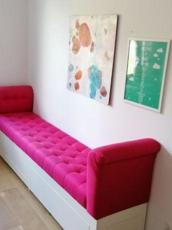 Siedzisko ława kanapa różowa