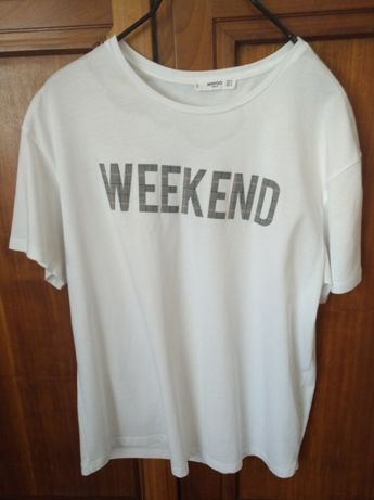 "T-shirt Mango ""Weekend"""