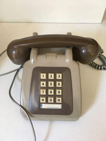 Telefone Antigo Castanho / Cinzento