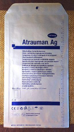 Atrauman Ag - 10x20 cm - opatrunek z maścią zawierającą srebro