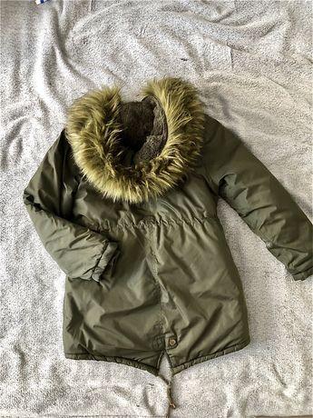 Куртка Парка осень зима на 8-10 лет