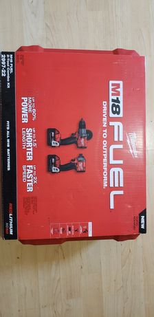 MILWAUKEE M18 FUEL 18V 2 narzedzia + 2 akumulatory 5.0Ah + walizka cen