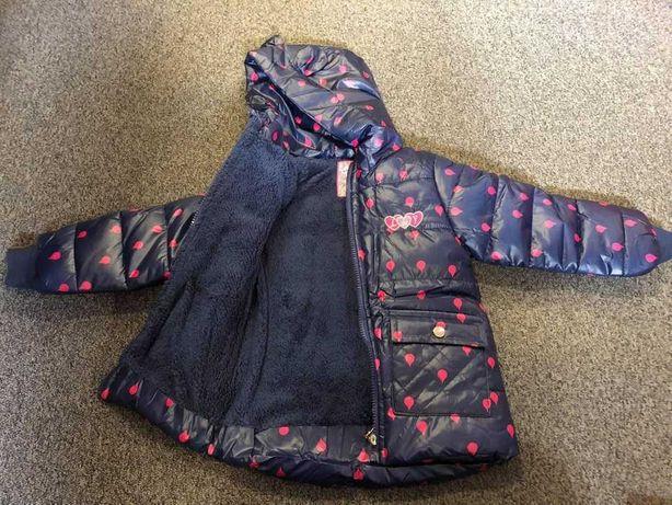 Nowa kurtka dziewczęca 3 kolory dziewczynki przejściowa zimowa 80-110