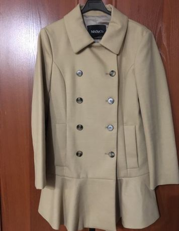 Пальто Max Mara Max&Co оригинал песочное пальто бежевое тренч оригинал