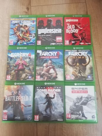 Xbox one zestaw 9 gier