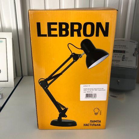 Лампа настільна телескопічна LEBRON L-TL-Tel, E27, 40W, біла/чорна