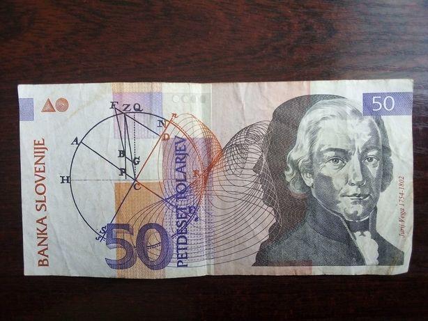 Banknot 50 tolarjev Słowenia