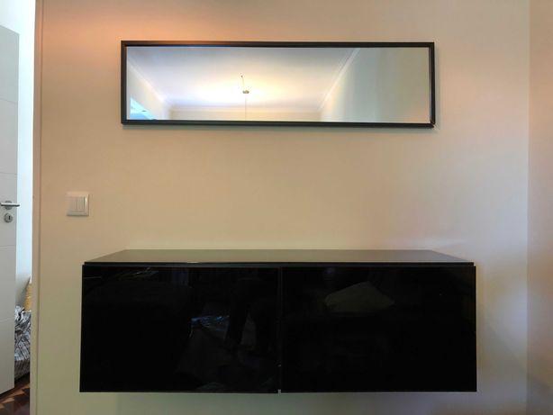 Móvel Aparador Ikea, com tampo em vidro