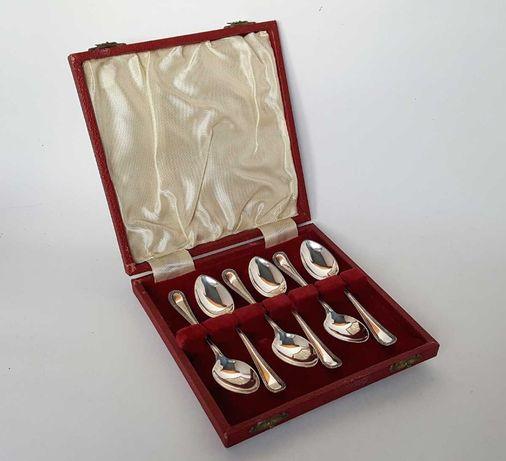 Антикварные кофейные серебряные ложки Англия 1932 год, серебро 925