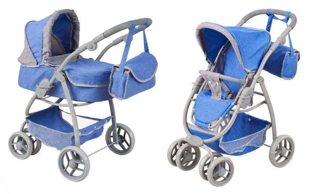 Wózek dla Lalek 2 w 1 Niebieski Odbiór lub Wysyłka