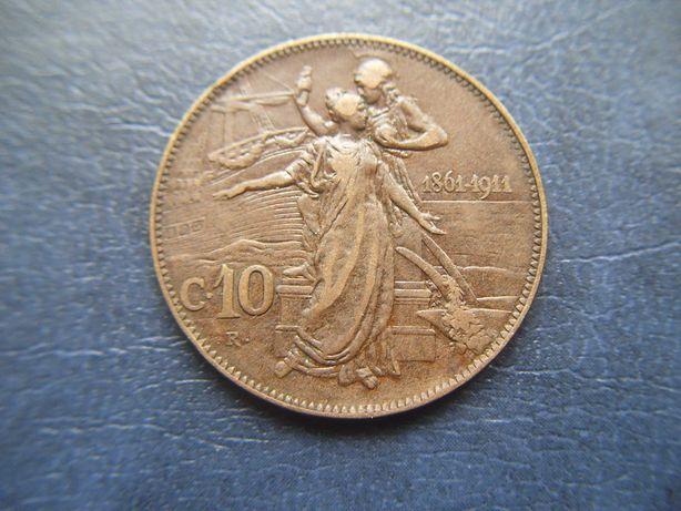 Stare monety 10 centesimi 1911 Królestwo Włoch WŁochy