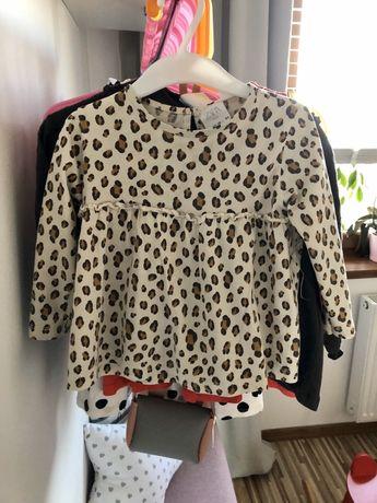 Zestaw bluzki bluzy jeansy sukienki Zara r. 86, H&M, 5 10 15. jNowe