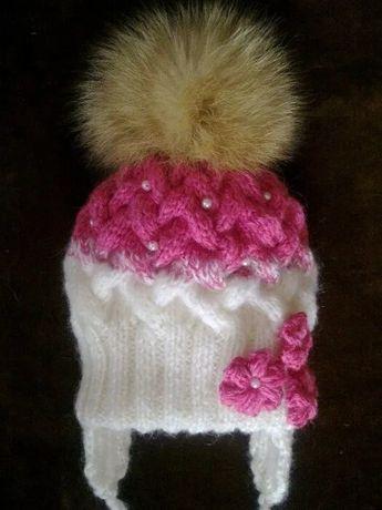 Зимний комплект (шапка, шарф, варежки)