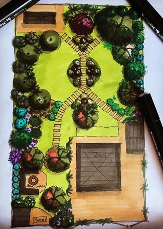 Ландшафтний ДИЗАЙН Сад з мінімальним доглядом 3D Архітектор