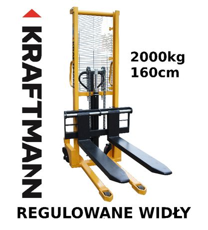 Paleciak 2t Wózek paletowy MASZTOWY SZTAPLARKA WIDLAK 160cm 2000kg