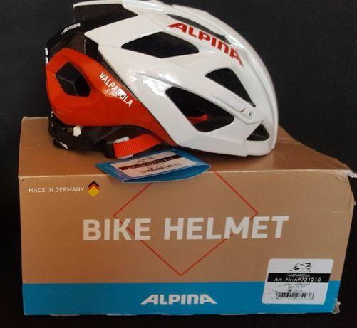 Nowy kask rowerowy Alpina Valparola-biało/czerwony