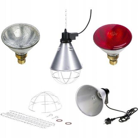 Lampa grzewcza sztuczna kwoka + promiennik ZESTAW