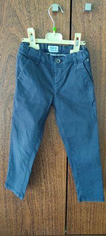 Calças de sarja azul marinho tamanho 4 mayoral
