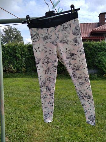 Kultowe legginsy w kocie mordki, Atmosphere roz. 38, pudrowy róż