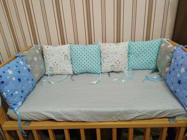 АКЦИЯ!Бортик,подушки, борты, защита, ограничители, захист в кроватку!