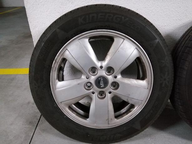 """Jantes 15"""" 5 Furos para Mini Originais com pneus"""