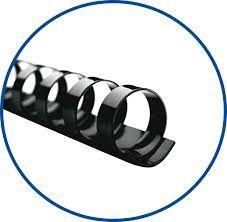 Argola Espiral 12mm Preta