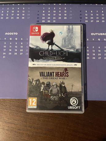 Valiant Hearts & Child of Light nintendo switch