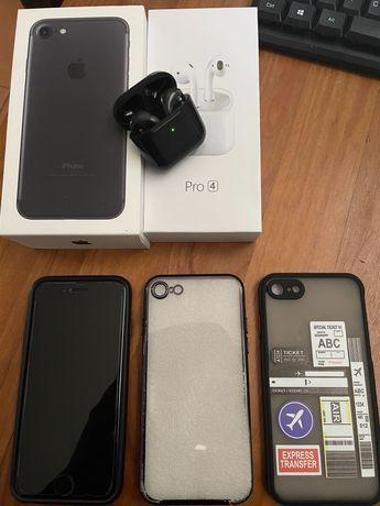 iPhone 7 32GB + EarPods pro4 mini + Dock carregamento 3 em 1