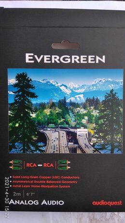 Межблочный кабель AudioQuest Evergreen  2 RCA - 2 RCA   2м.
