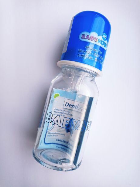 Новая бутылочка для кормления baby nova 0-24months, стекло с соской