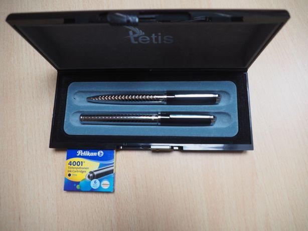 Elegancki zestaw długopis i pióro w etui / pudełku nowy