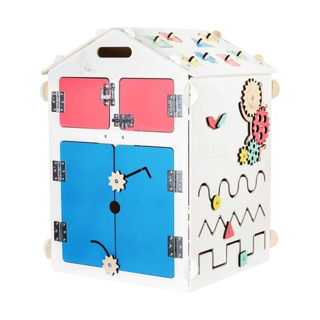 Domek drewniany zabawka dla dzieci edukacyjne sorter busy kids