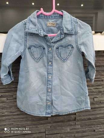 Sukienka/tunika jeans  NEXT r. 80 cm