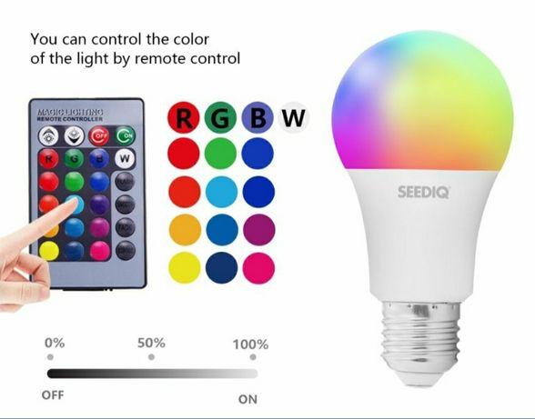 Лампа Светодиодная с пультом 24 кнопок