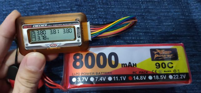 Bateria para carro telecomandado Lipo 4S 8000mah 90C