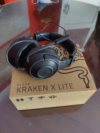 Razer Kraken X Lite na caixa, pouco uso