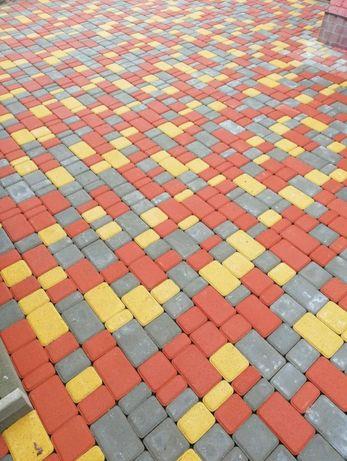 Качественная Укладка тротуарной плитки под виброплиту