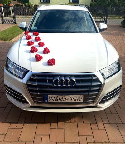 Samochód Auto do ślubu, Audi Q5 Białe. 0d 350zl przystrojenie w cenie!