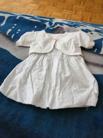 Sukienka na ramiączkach z bolerkiem