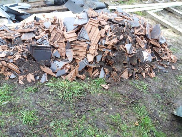 Gruz budowlany - dachówka ceramiczna