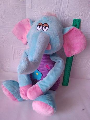 Мягкая игрушка большой голубой слон слоник 50 см